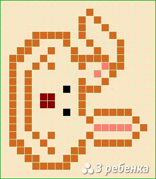 Схема фенечки прямым плетением 22480