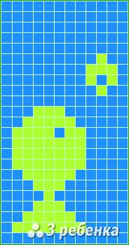 Схема фенечки прямым плетением 22698