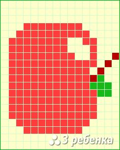 Схема фенечки прямым плетением 22688