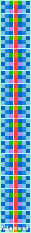 Схема фенечки прямым плетением 22613