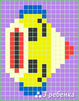 Схема фенечки прямым плетением 22723
