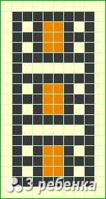 Схема фенечки прямым плетением 22673