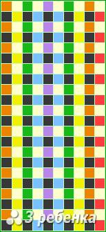 Схема фенечки прямым плетением 22562