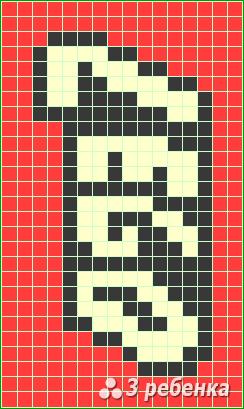 Схема фенечки прямым плетением 22608