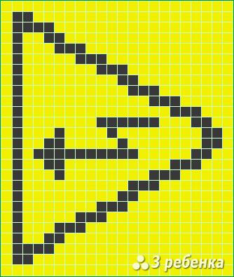 Схема фенечки прямым плетением 22572