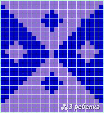 Схема фенечки прямым плетением 22683