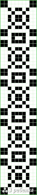 Схема фенечки прямым плетением 22708