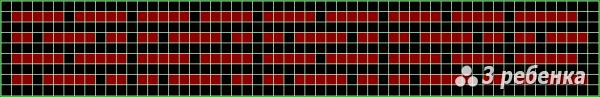 Схема фенечки прямым плетением 22598