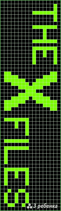 Схема фенечки прямым плетением 22653