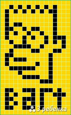 Схема фенечки прямым плетением 22470