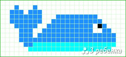Схема фенечки прямым плетением 22521