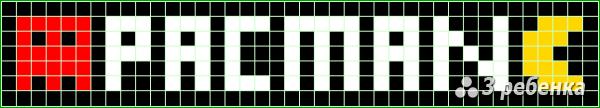 Схема фенечки прямым плетением 22475