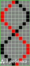 Схема фенечки прямым плетением 22738