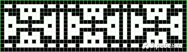 Схема фенечки прямым плетением 22593