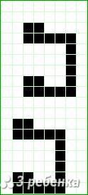 Схема фенечки прямым плетением 22648