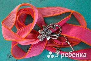 ленточка с цветком