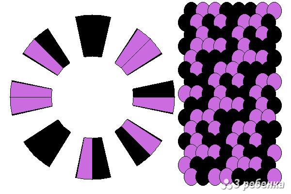 Схема фенечки кумихимо 23266