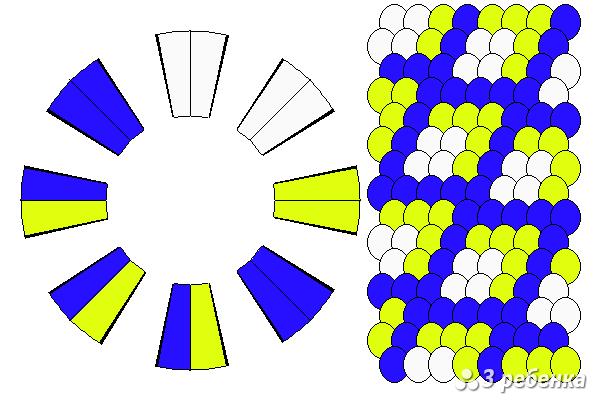 Схема фенечки кумихимо 23262