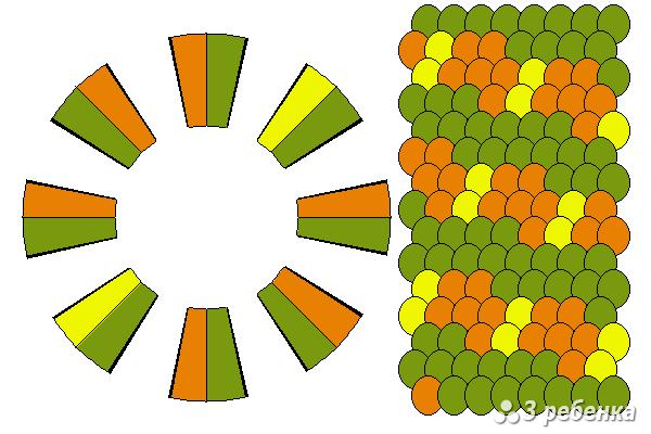 Схема фенечки кумихимо 23258