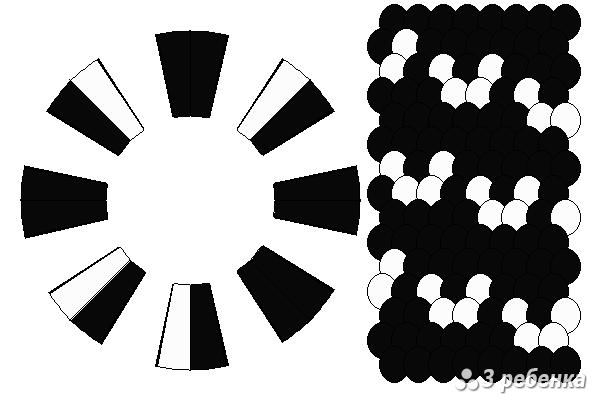 Схема фенечки кумихимо 23254