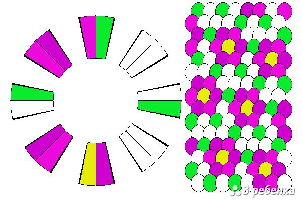 Схема фенечки кумихимо 23250