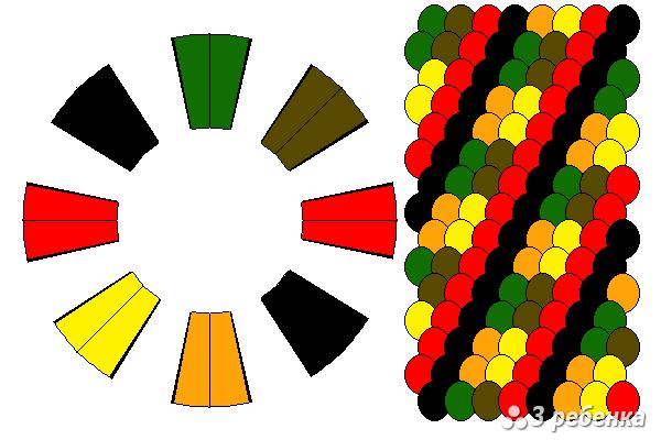 Схема фенечки кумихимо 23245