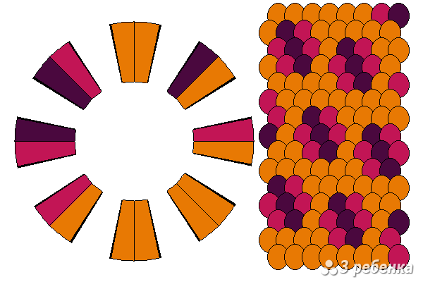 Схема фенечки кумихимо 23241