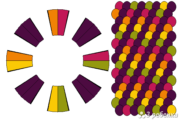 Схема фенечки кумихимо 23237