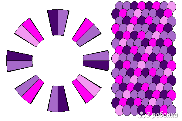 Схема фенечки кумихимо 23233