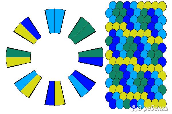 Схема фенечки кумихимо 23229