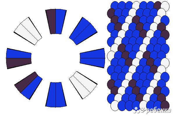 Схема фенечки кумихимо 23225