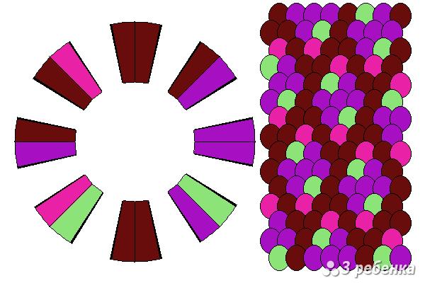 Схема фенечки кумихимо 23221