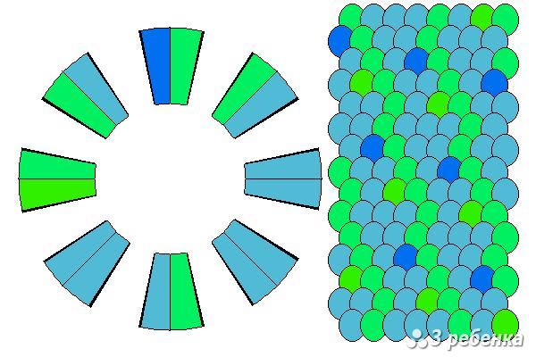 Схема фенечки кумихимо 23217