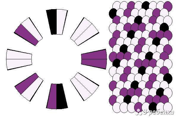 Схема фенечки кумихимо 23209