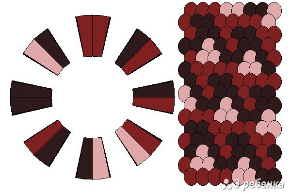 Схема фенечки кумихимо 23205