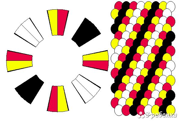 Схема фенечки кумихимо 23197