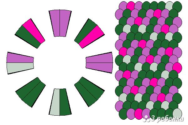 Схема фенечки кумихимо 23193