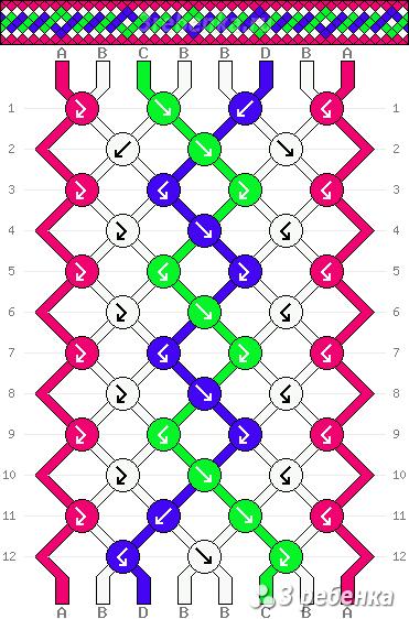 Схема фенечки 23104