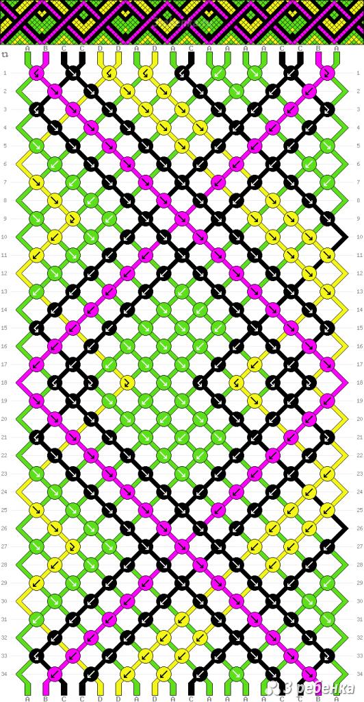 Схема фенечки 23555