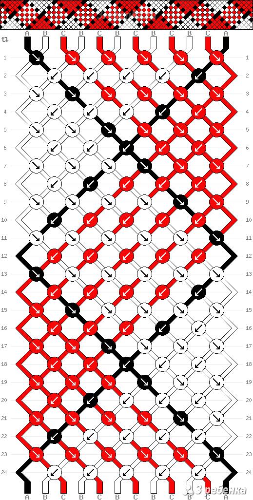 Схема фенечки 23584. Шотландка