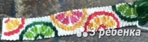 Схема фенечки прямым плетением 23294