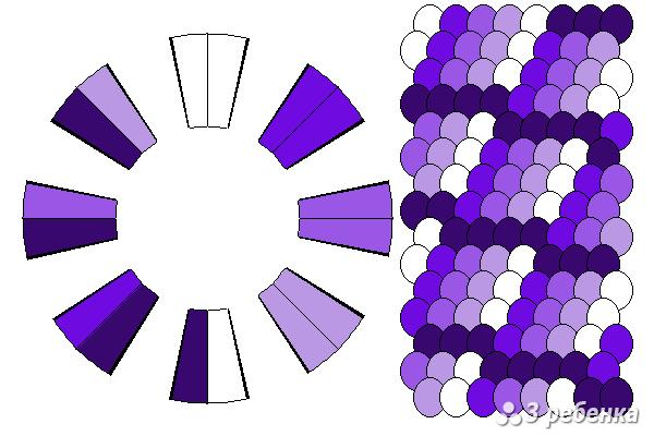 Схема фенечки кумихимо 23161