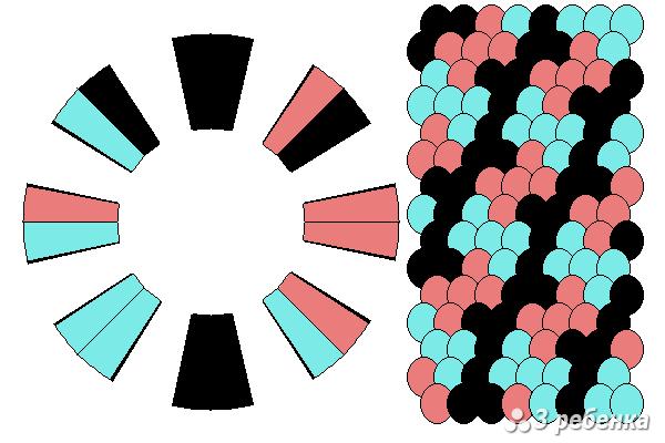 Схема фенечки кумихимо 23185