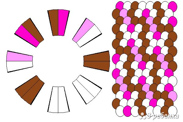 Схема фенечки кумихимо 23177