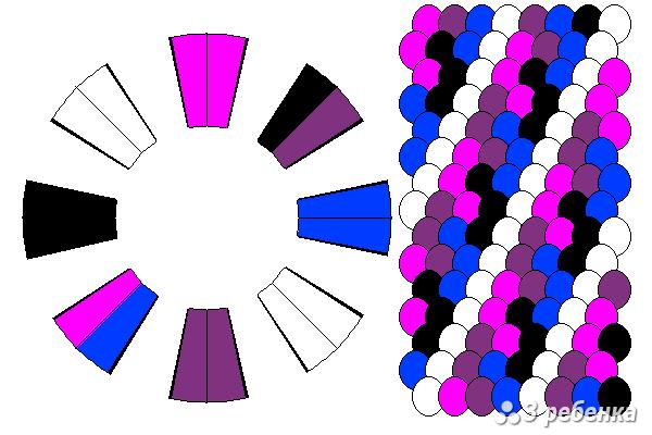 Схема фенечки кумихимо 23173