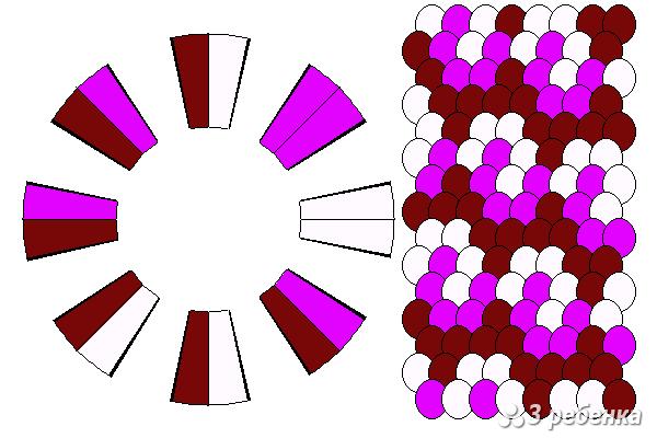 Схема фенечки кумихимо 23157
