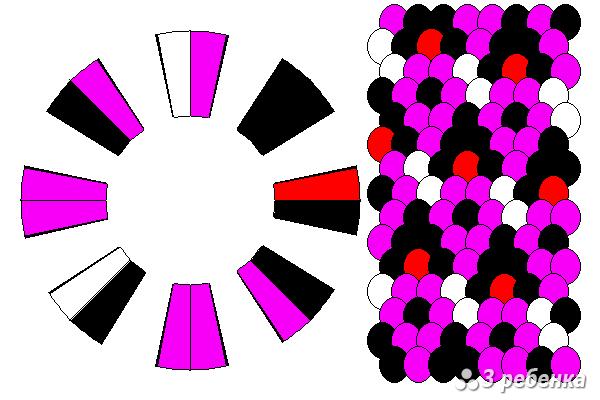 Схема фенечки кумихимо 23153