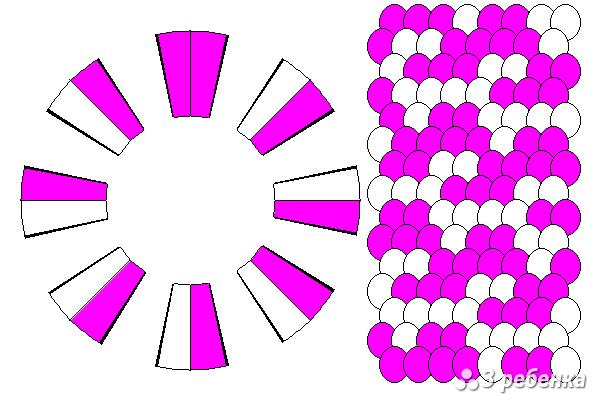 Схема фенечки кумихимо 23149