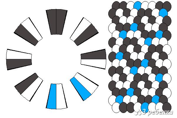 Схема фенечки кумихимо 23145