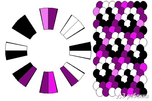 Схема фенечки кумихимо 23141